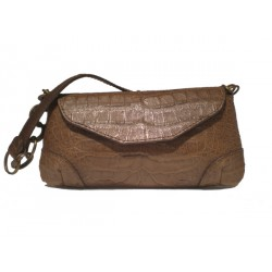 Crocodile Mississippi Leather Small Baguette Bag.