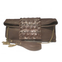 Envelope-Clutch Coco And Napa Bag - Chocolate