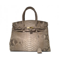 Python Leather Birkin Bag - Natural Matt