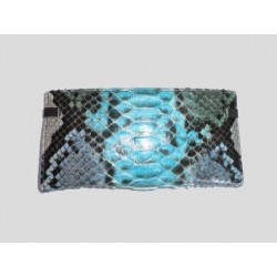 Big Python Leather Elastic Rubber-Wallet