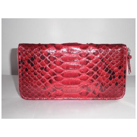 Big Zipper Wallet-Women - Red