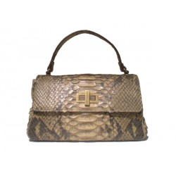 Python Leather Kelly Bag - Oak