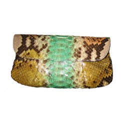 Pleated Clutch Bag-Francis - Green Fantasy