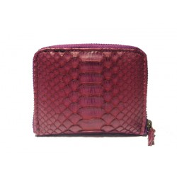 Small Zipper Wallet-Women - Matt Amethyst